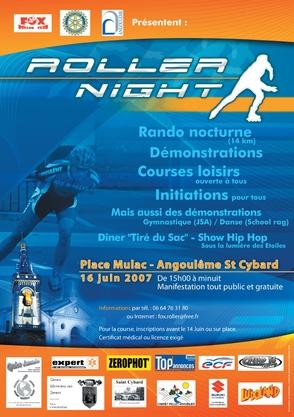 affiche de la Roller Night