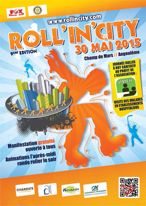 affiche roll in city 2015