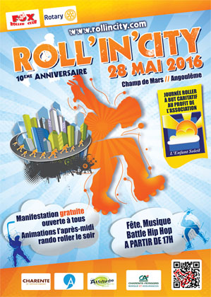 affiche roll in city 2016