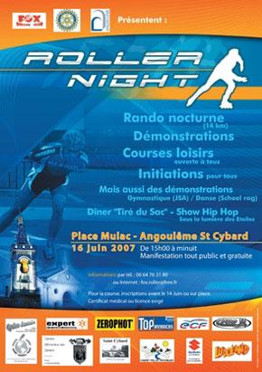 affiche roller night 2007