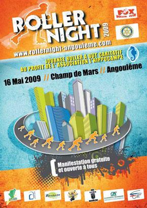 affiche roller night 2009